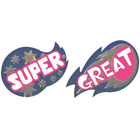 #701 Super/Great Metallic Stickers Multipack