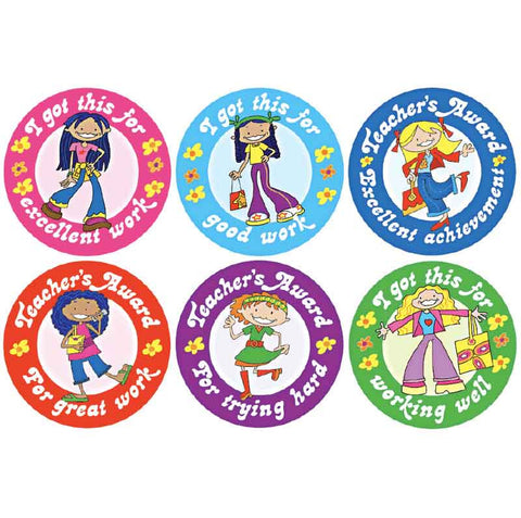 #724 Girl Stickers Multipack