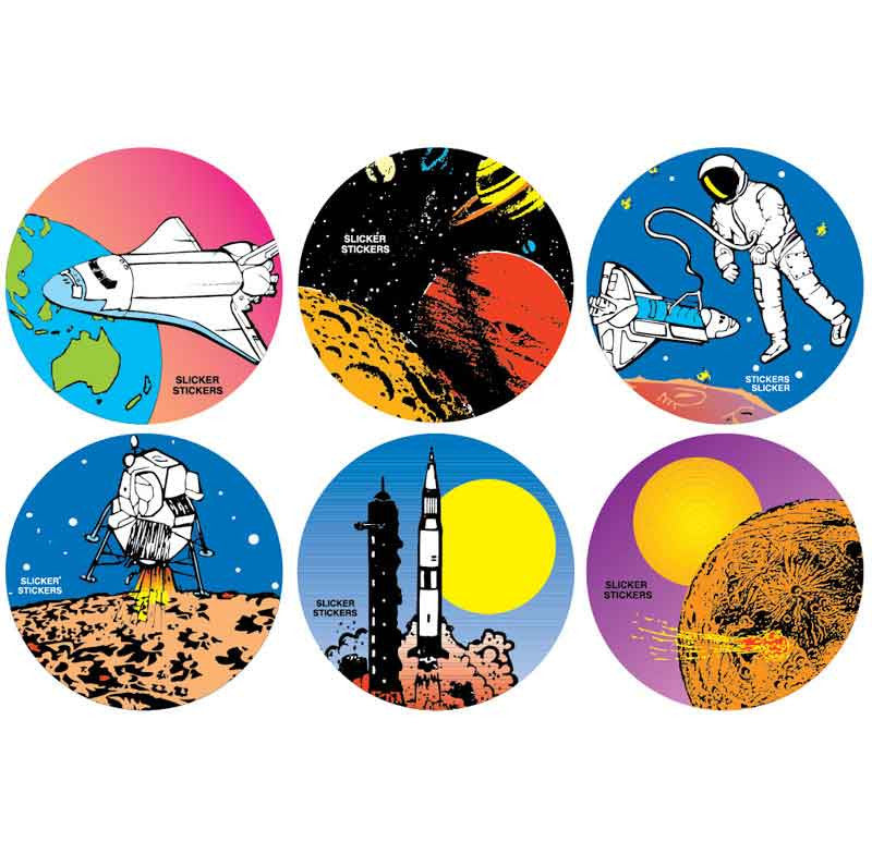 #901 Space Stickers Themepack