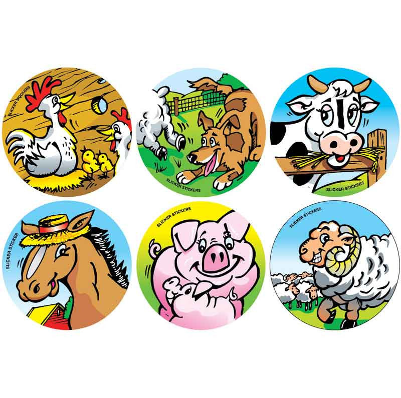 #909 Farm Animal Stickers Themepack