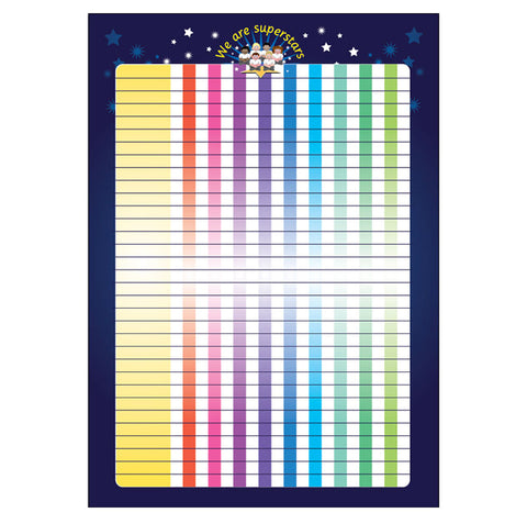 #133 A2 Class Wall Chart for Mini Stars