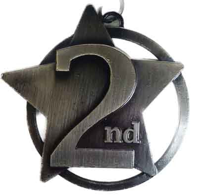 #M17AS Antique Silver 2nd Star Medallion