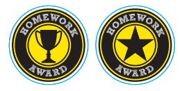 #542 Homework Award Stickers