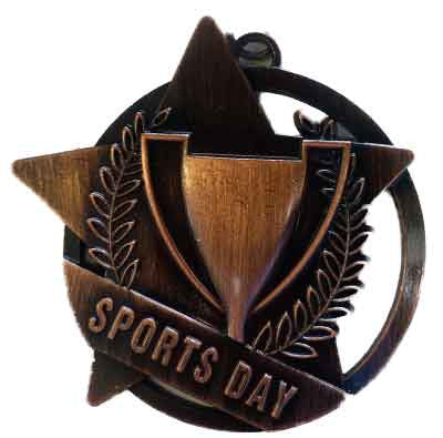#M16AB Antique Bronze Sports Day Medallion