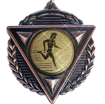 #M15BF Bronze Athletics Medallion - Female