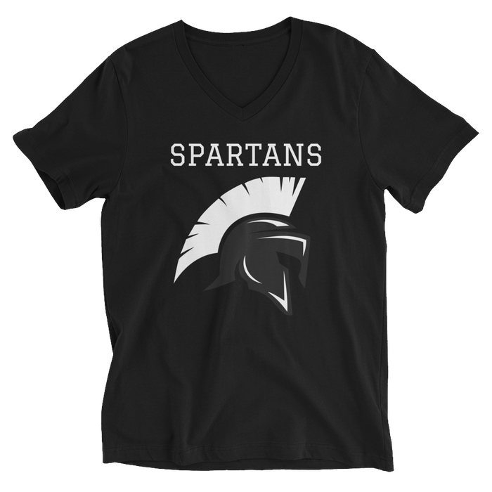 Spartans Unisex Short Sleeve V-Neck T-Shirt