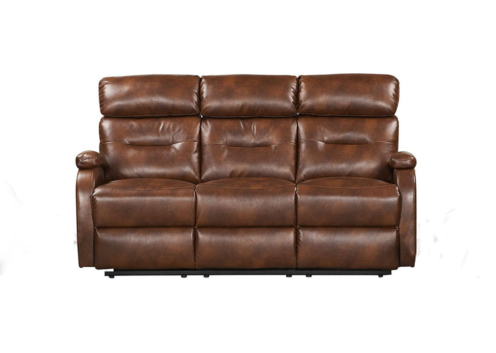 2 Seater Dark Brown Modern Recliner Sofa