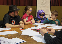 Cartoon lessons at Sunderland Comicon