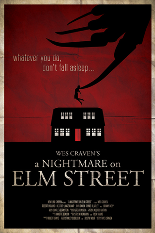 Ryan Black 'A Nightmare on Elm Street' art poster