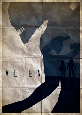 Ryan Black 'Alien' art poster