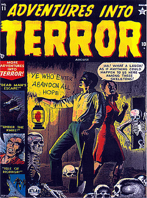 Vintage Comic 'Adventures Into Terror' Poster Art Print