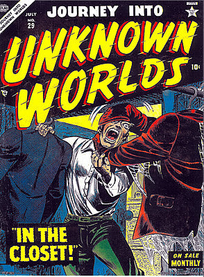 Vintage Comic 'Journey into Unknown Worlds' Poster Art Print