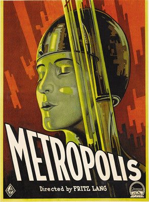 Retro movie 'Metropolis' poster art print