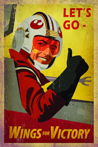 Ollie Boyd 'Wings for Victory' Star Wars propaganda poster
