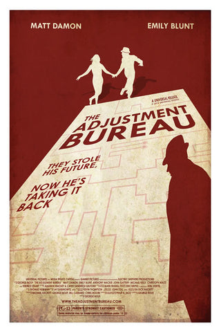 Ollie Boyd 'The Adjustment Bureau' art poster