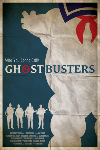 Ryan Black 'Ghostbusters' art poster