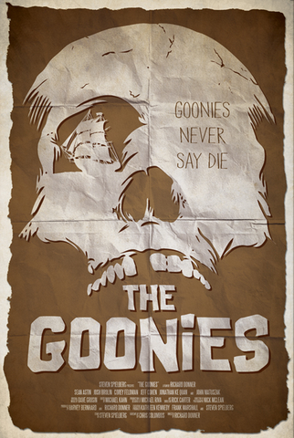 Ryan Black 'Goonies' art poster