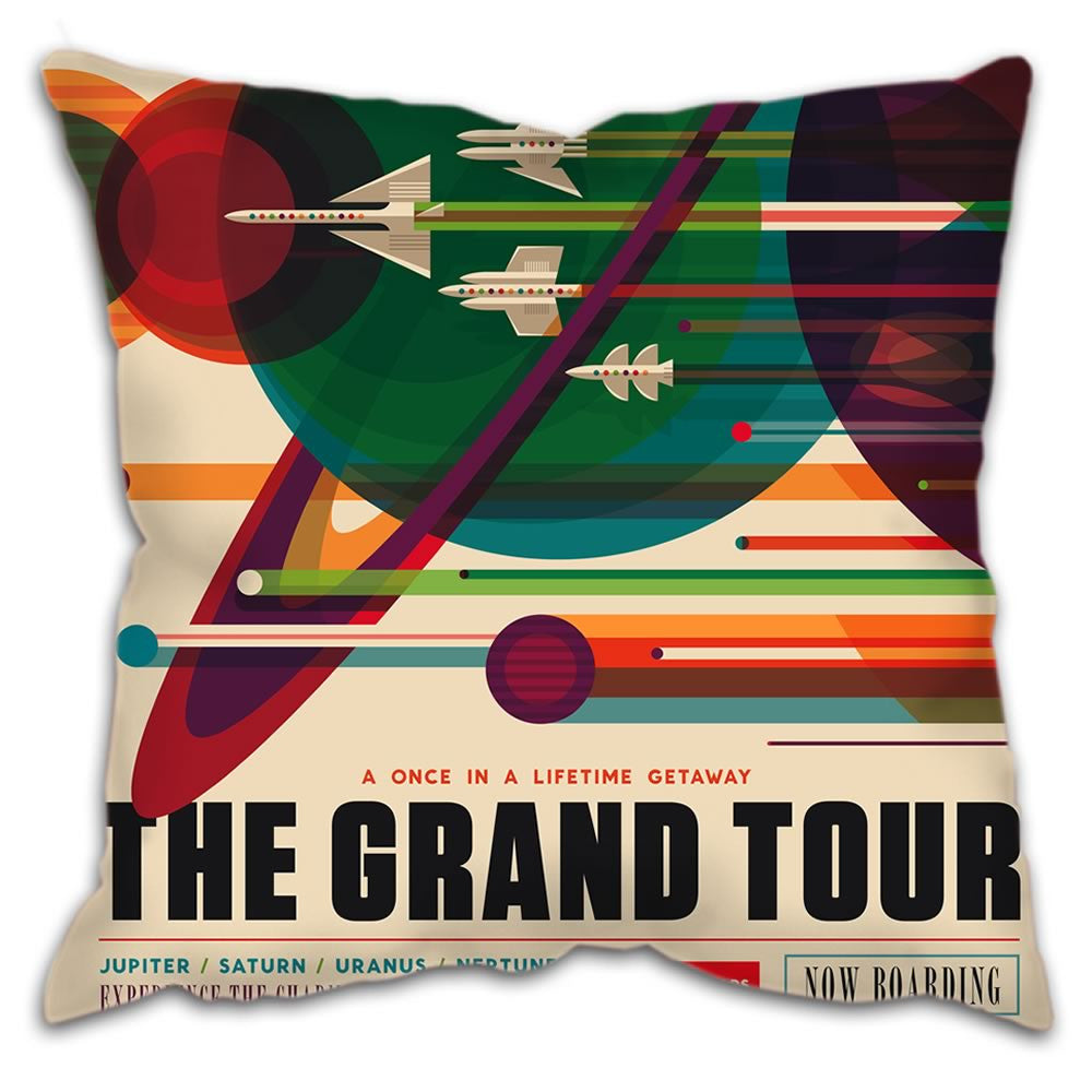 "Cushion - ""The Grand Tour"" Visions of the Future"