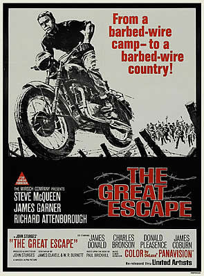 Retro movie 'The Great Escape' poster art print