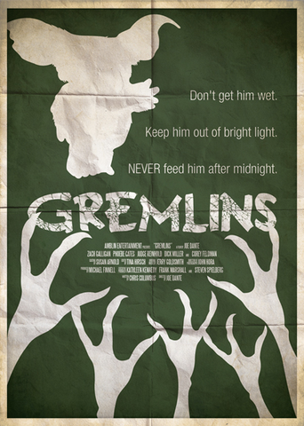 Ryan Black 'Gremlins' art poster