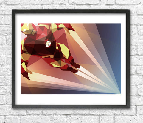 Liam Brazier - Man Made (Iron Man) art print