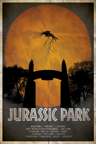 Ryan Black 'Jurassic Park' art poster