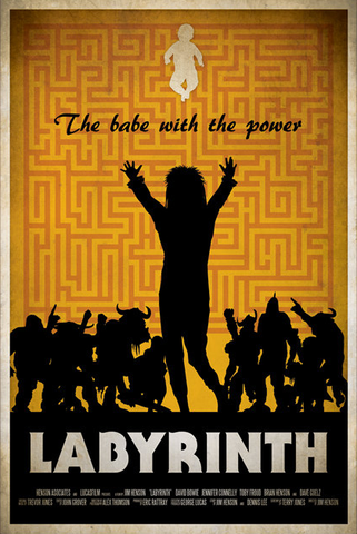 Ryan Black 'Labyrinth' art poster