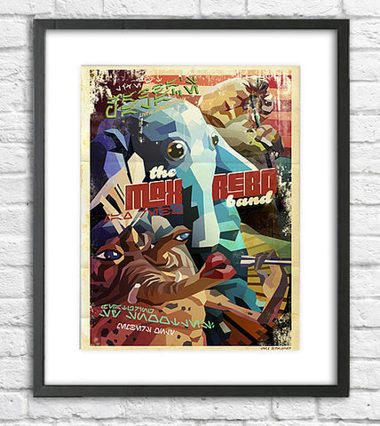 Liam Brazier Star Wars - Max Rebo Band Gig Poster