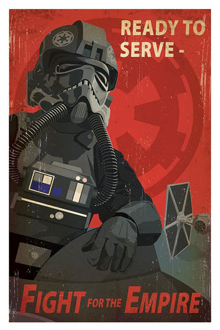 Ollie Boyd 'Fight for the Empire' Star Wars propaganda poster