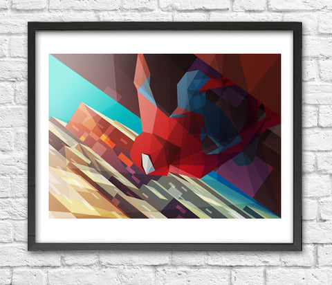 Liam Brazier - Hang Man (Spiderman) art print