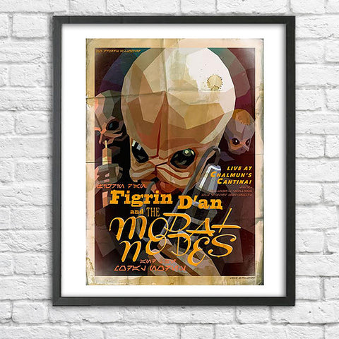 Liam Brazier Star Wars - Cantina Gig Poster