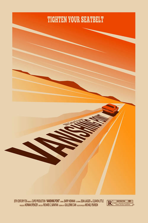 Ollie Boyd 'Vanishing Point' art poster