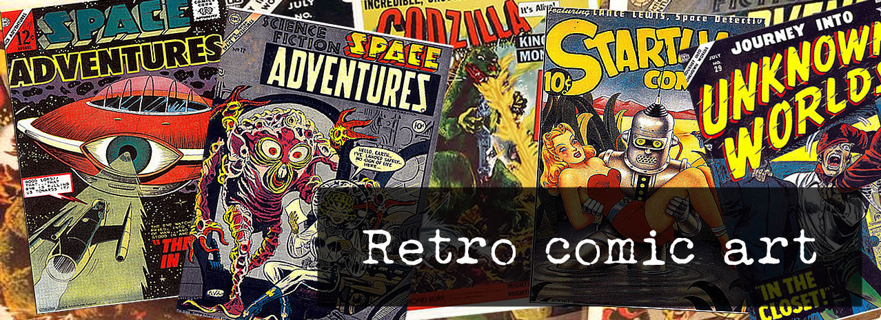 Super cool retro pulp comic covers