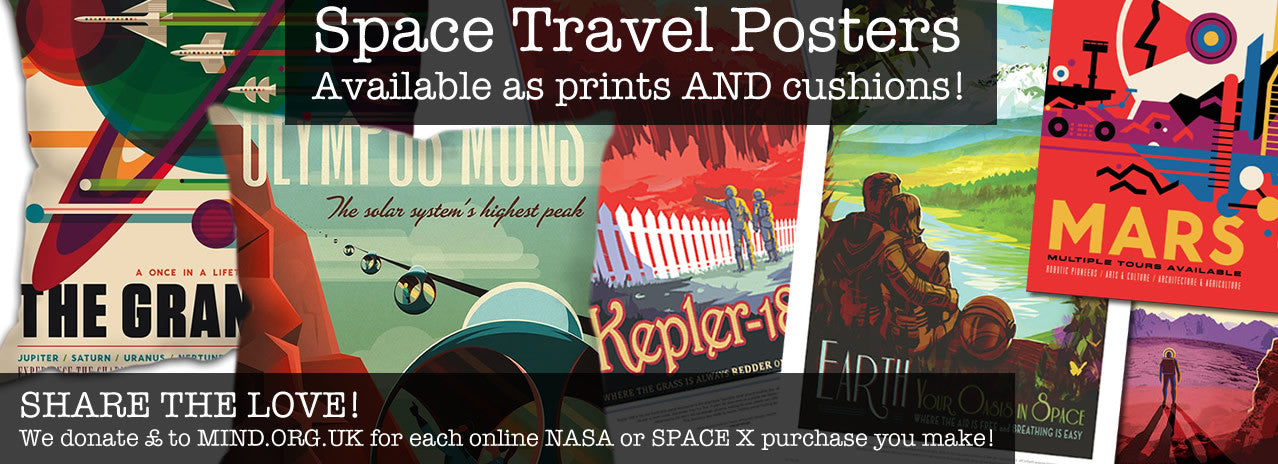 NASA and Space X travel posters