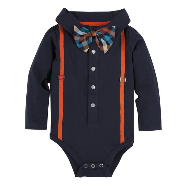 Navy with Orange Suspenders Polo Shirtzie - Shopify