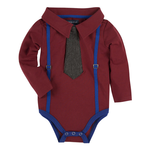 Maroon with Blue Suspenders Polo Shirtzie - Shopify