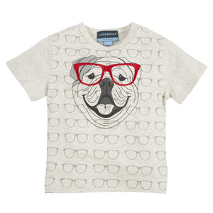 Four Eyed Fido:  Embroidery Graphic Tee