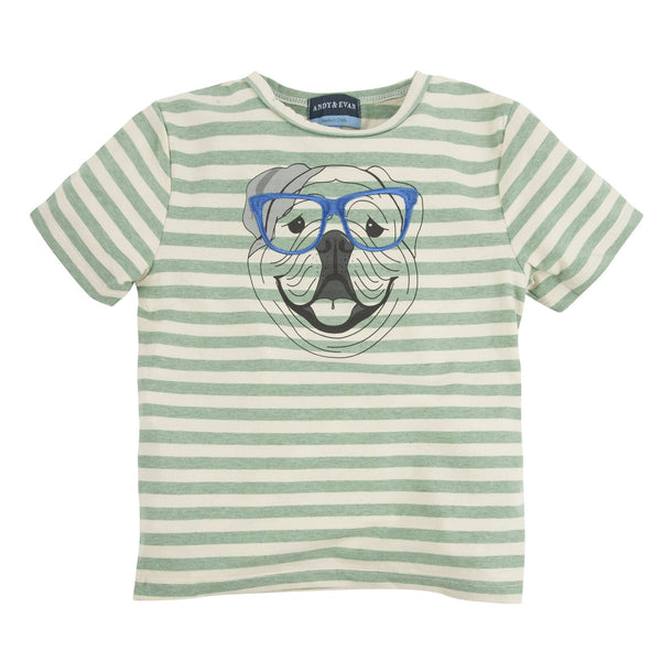 Four Eyed Fido:  Embroidery Graphic Tee - Shopify
