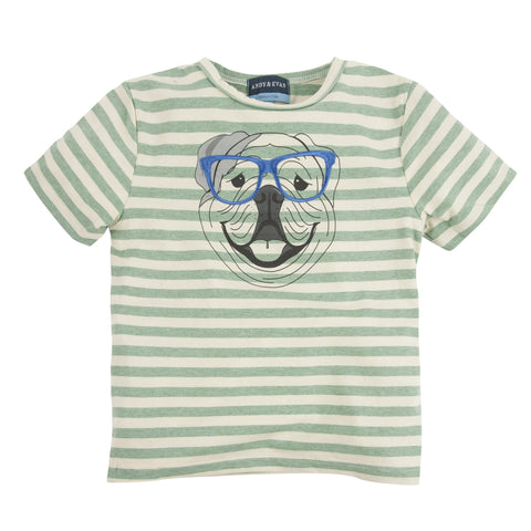 Four Eyed Fido:  Embroidery Graphic Tee -EVM222asadsasd