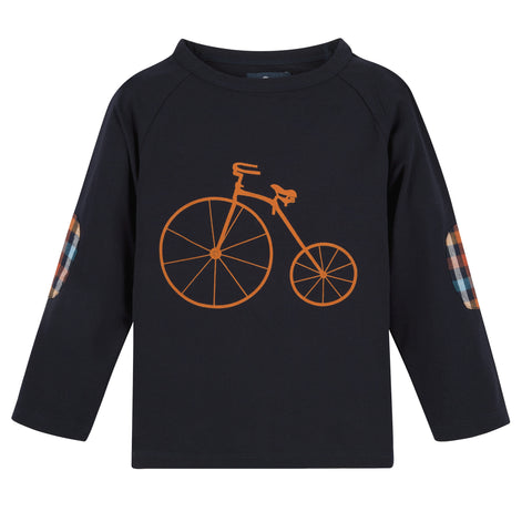 Navy Bicycle L/S Graphic Tee