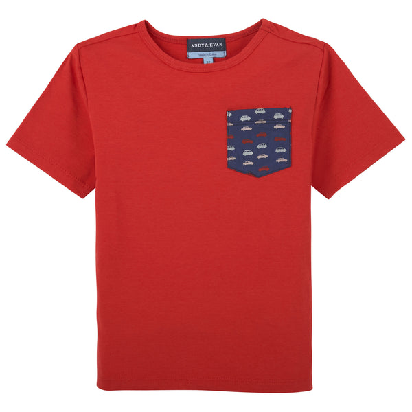 Car Pocket Tee Red - Shopify