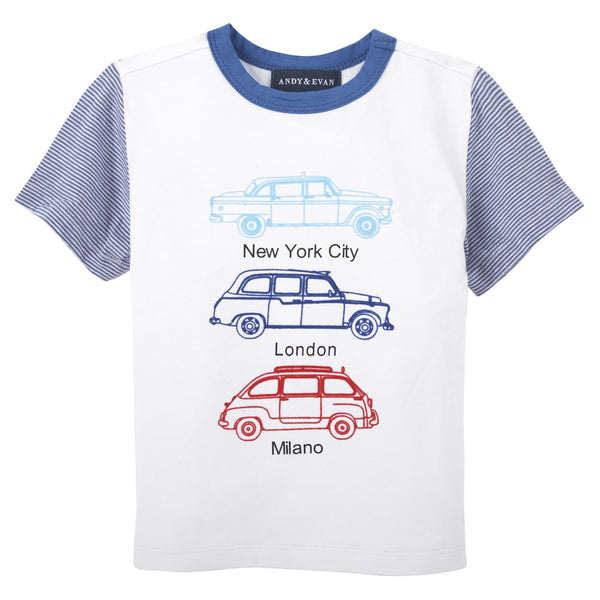 Taxi Tee: White & Blue - Shopify