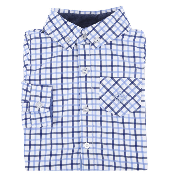 Blue and Navy Open Check Shirt - Shopify