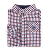 Red and Blue Open Check Shirt - Shopify