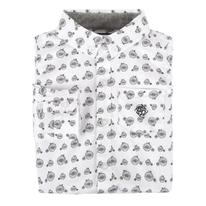 Black and White Bicycle Shirt