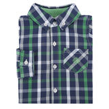 Green and Blue Plaid Shirt - Shopify
