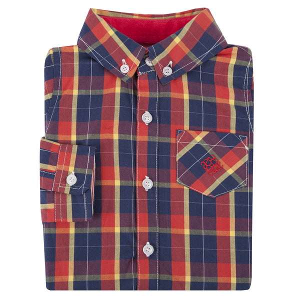 Red and Yellow Plaid Shirt - Shopify