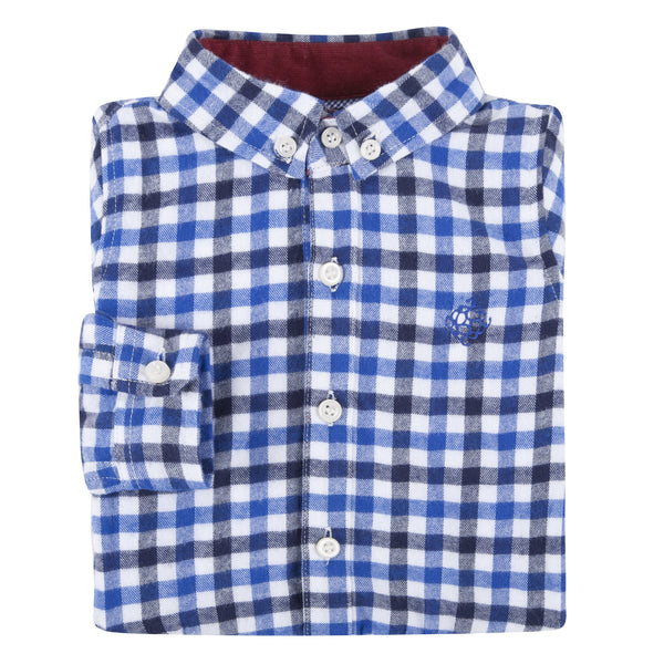 Blue Check Flannel Shirt - Shopify
