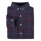 Navy and Maroon Check Flannel Shirt - Shopify