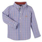 Orange and Blue Double Stripe Check Shirt - Shopify